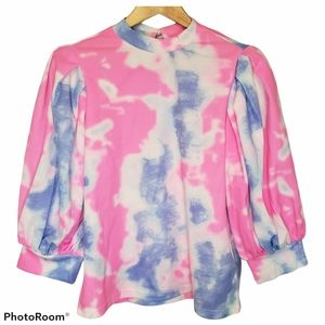 3 for $25 Shein Pink Tie Dye Shirt Top Size Large